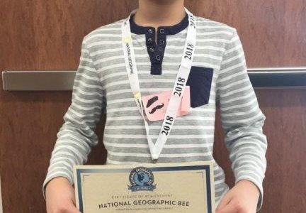 Sixth Grader, Luke Kuang, Wins Mayfield Middle School Geography Bee