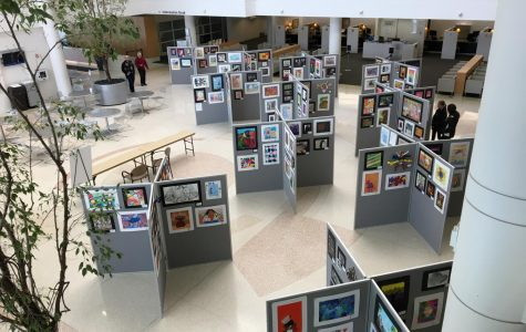 Paintbrushes, paper, scissors, and pencils: The art show spotlights student work