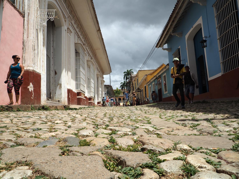A cobblestone street in Trinidad, Cuba