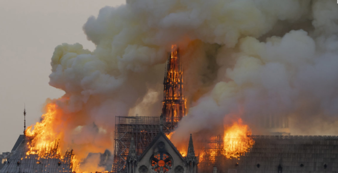 Notre+Dame+Cathedral+sustains+damage+from+fire%3B+millions+donated+for+restoration