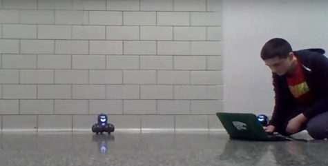 What are the robots in the hallway? Meet Spheros.