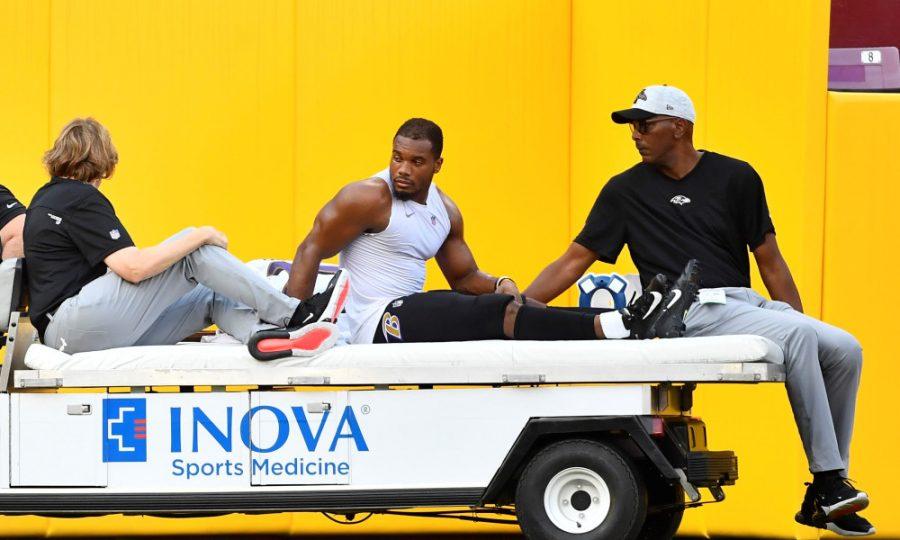 Running Back J.K. Dobbins has a season-ending injury